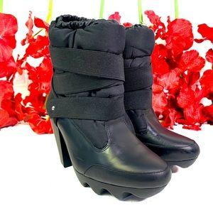 Adidas SLVR ankle heeled boots